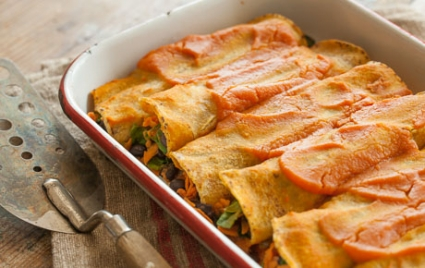 Black Bean & Sweet Potato Enchiladas