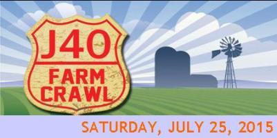 J40 Farm Crawl Saturday, July 25, 2015